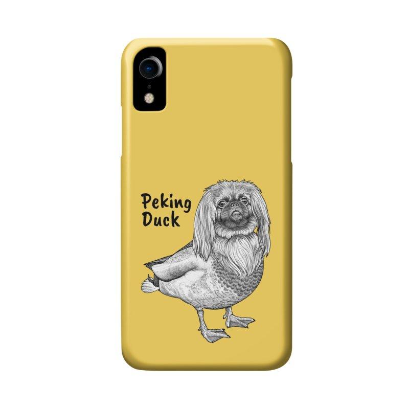 Peking Ducik   Pekingese + Duck Hybrid Animal Accessories Phone Case by Whatif Creations   Shop Hybrid Animals!