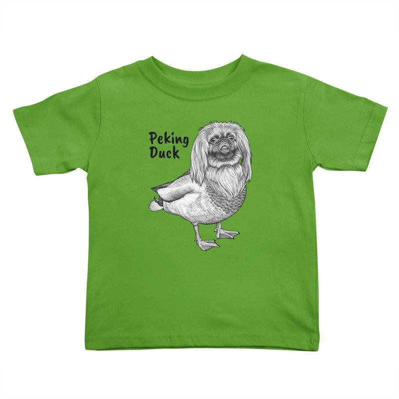 Peking Ducik | Pekingese + Duck Hybrid Animal Kids Toddler T-Shirt by Whatif Creations | Shop Hybrid Animals!