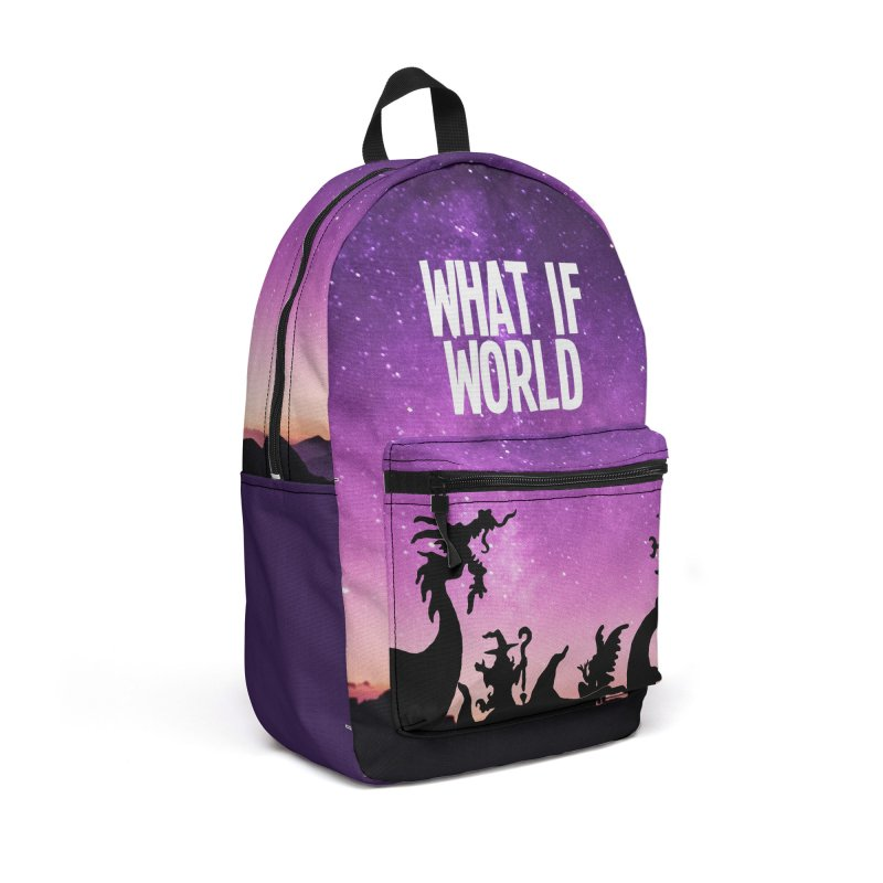 What If World Logo (Colors) Accessories Bag by What If World's Imaginarium