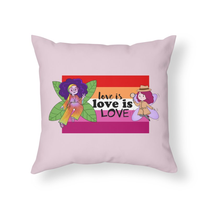 Sprite Alright & Fair Elise Home Throw Pillow by What If World's Imaginarium