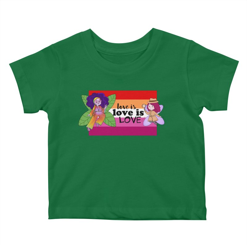 Sprite Alright & Fair Elise Kids Baby T-Shirt by What If World's Imaginarium