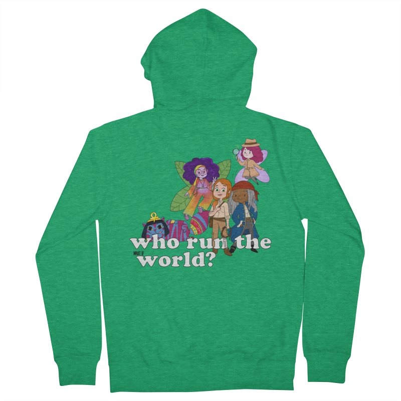 Who run the What If World? Girls! Men's Zip-Up Hoody by What If World's Imaginarium