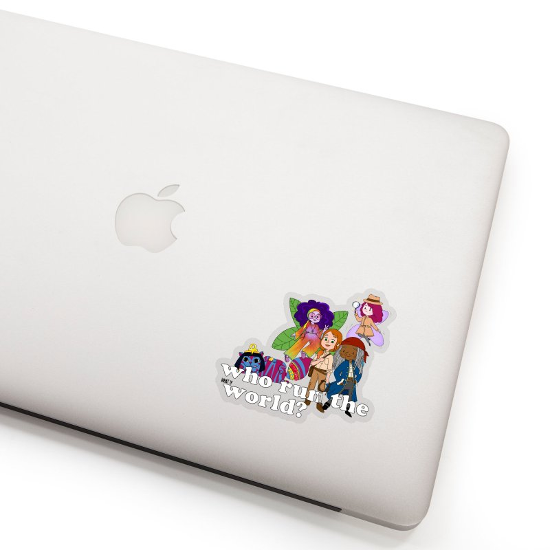 Who run the What If World? Girls! SCHOOL & MORE! Sticker by What If World's Imaginarium