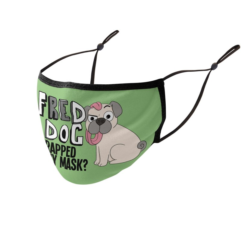 Fred the Dog is Trapped! Accessories Face Mask by What If World's Imaginarium