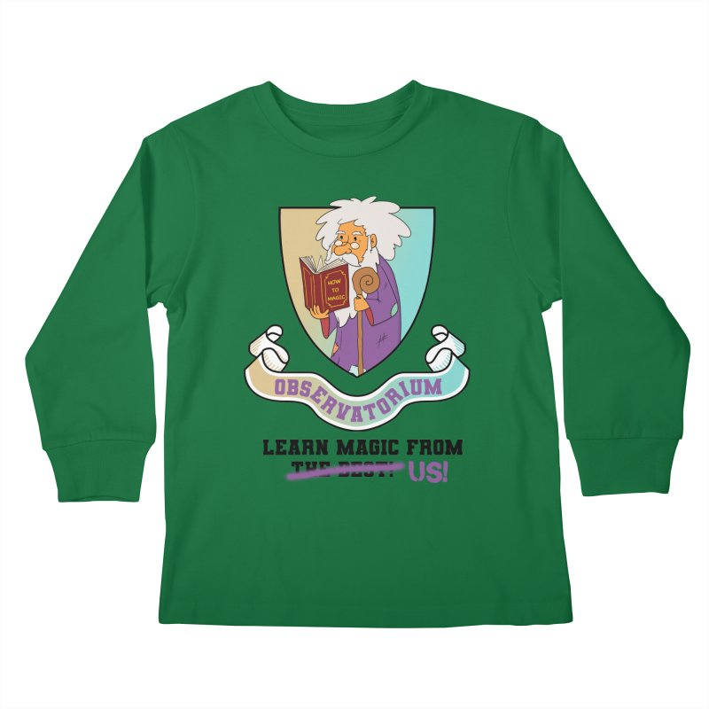 Observatorium School for Magic Kids Longsleeve T-Shirt by What If World's Imaginarium