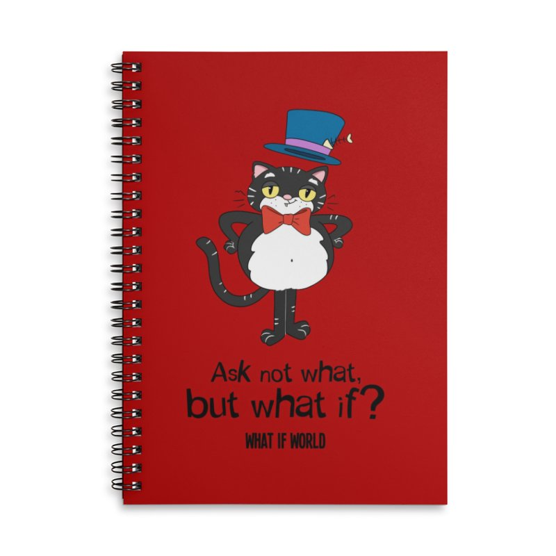 JFKat - If not meow, when? Accessories Notebook by What If World's Imaginarium