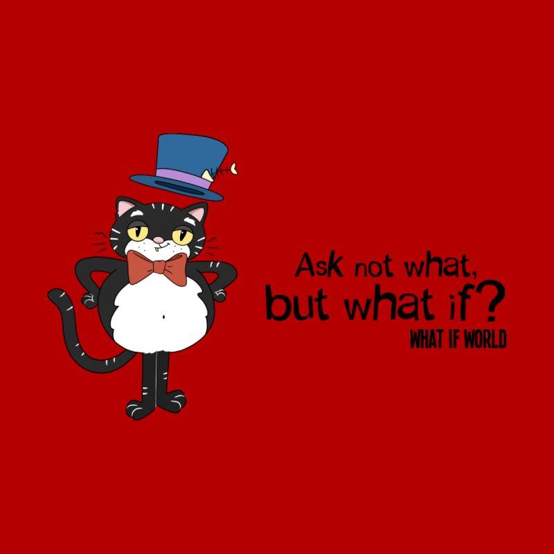 JFKat - If not meow, when? Men's Zip-Up Hoody by What If World's Imaginarium