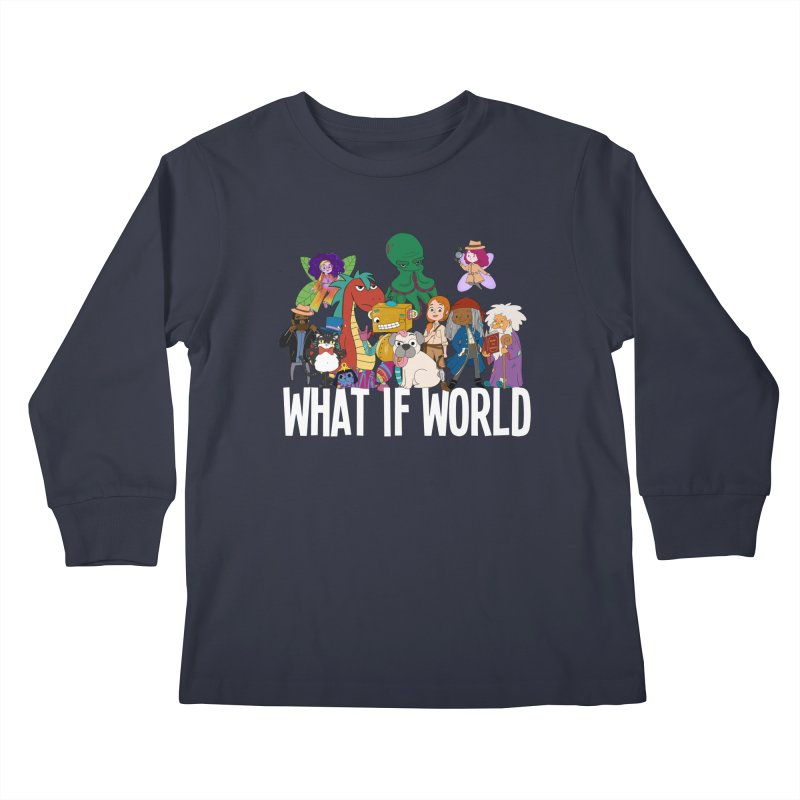 Characters from What If World Kids Longsleeve T-Shirt by What If World's Imaginarium