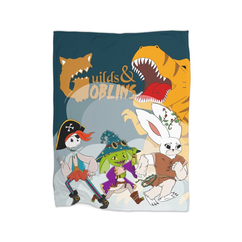 Guilds & Goblins Home Blanket by What If World's Imaginarium