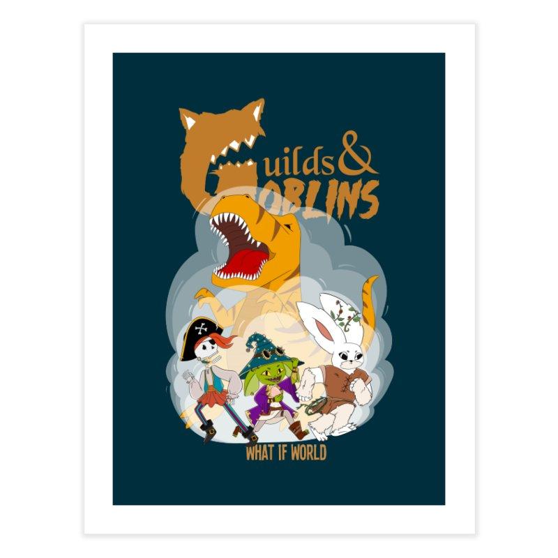 Guilds & Goblins ART / DECOR Fine Art Print by What If World's Imaginarium