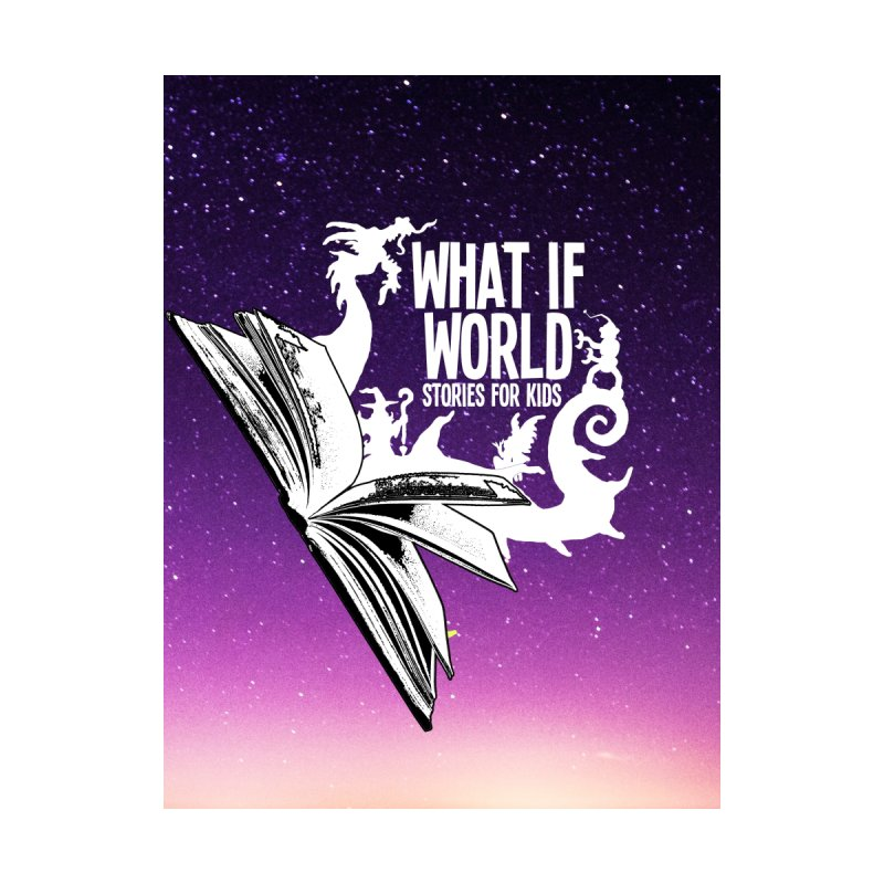 Book Logo - Purple Sky Home Blanket by What If World's Imaginarium