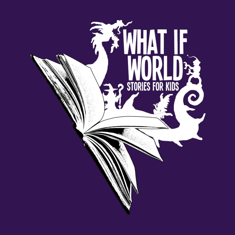 Book Logo - White by What If World's Imaginarium