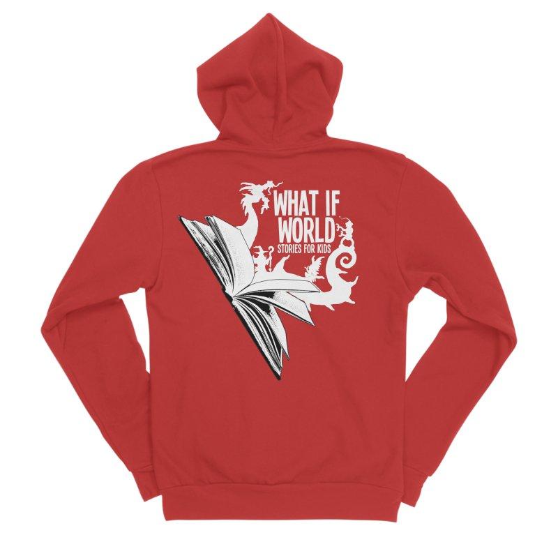 Book Logo - White Men's Zip-Up Hoody by What If World's Imaginarium