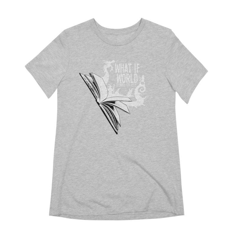 Book Logo - White Women's Extra Soft T-Shirt by What If World's Imaginarium
