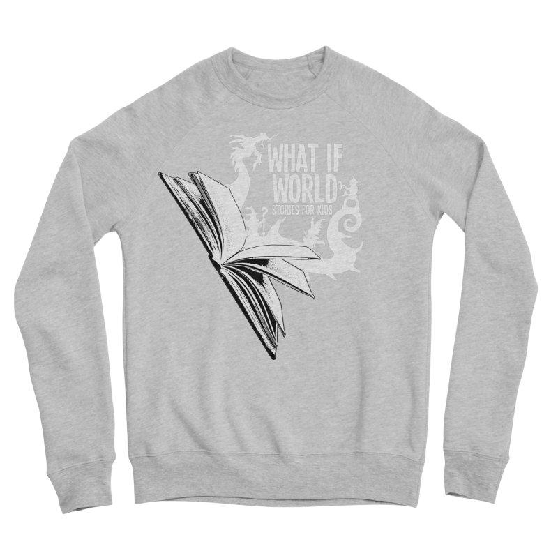 Book Logo - White Men's Sponge Fleece Sweatshirt by What If World's Imaginarium