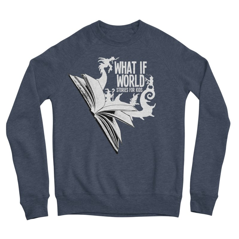 Book Logo - White Men's Sponge Fleece Sweatshirt by What If World's Imaginarium