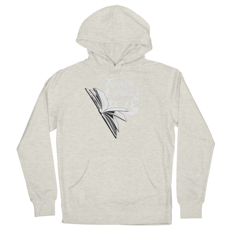 Book Logo - White Men's Pullover Hoody by What If World's Imaginarium