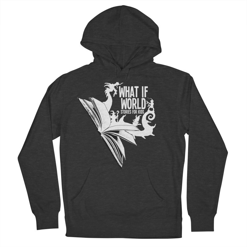 Book Logo - White Men's French Terry Pullover Hoody by What If World's Imaginarium