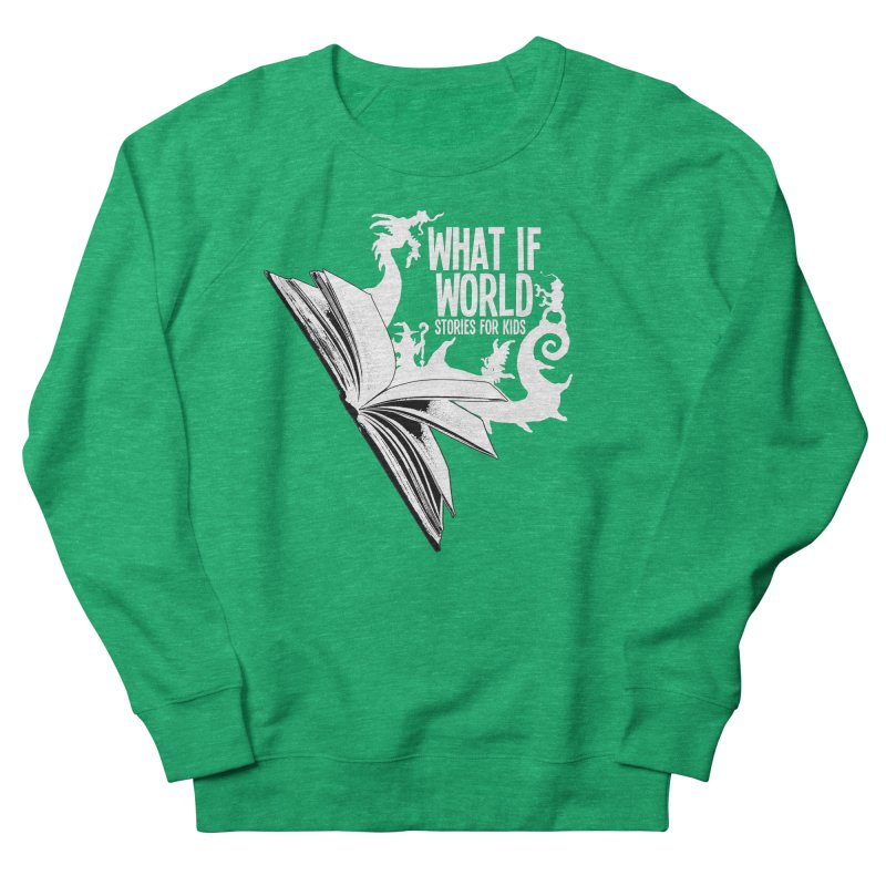 Book Logo - White Women's Sweatshirt by What If World's Imaginarium
