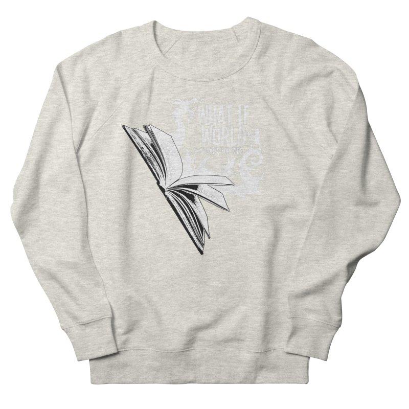 Book Logo - White Men's French Terry Sweatshirt by What If World's Imaginarium