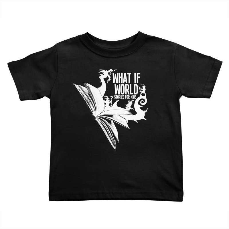Book Logo - White Kids Toddler T-Shirt by What If World's Imaginarium