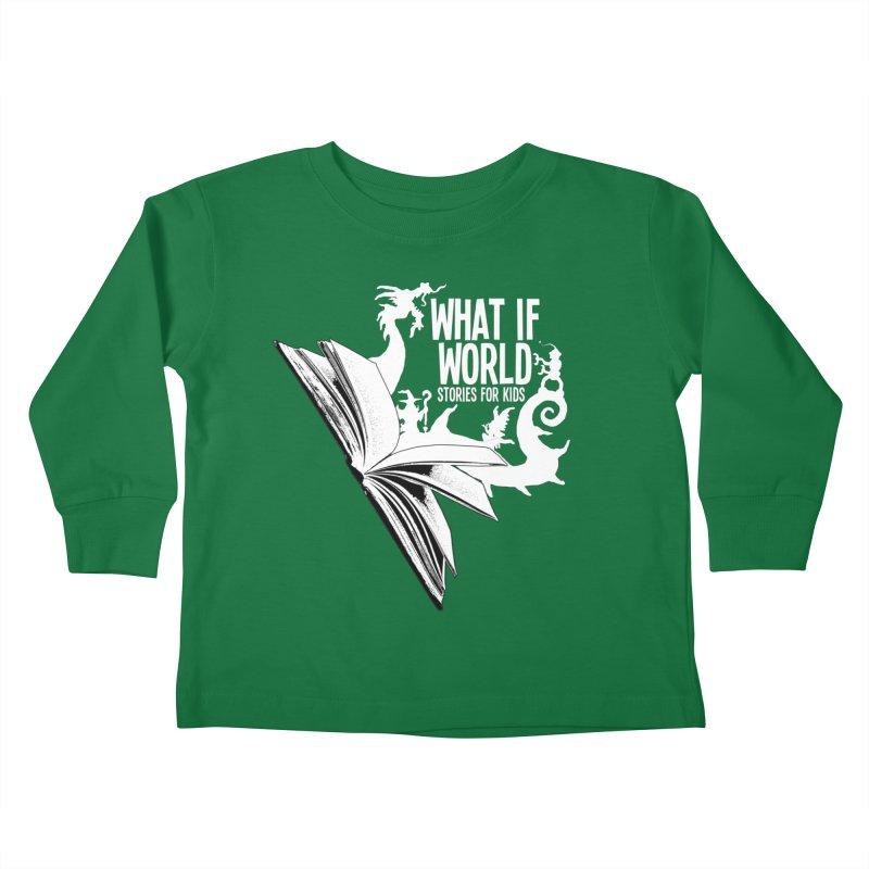 Book Logo - White Kids Toddler Longsleeve T-Shirt by What If World's Imaginarium