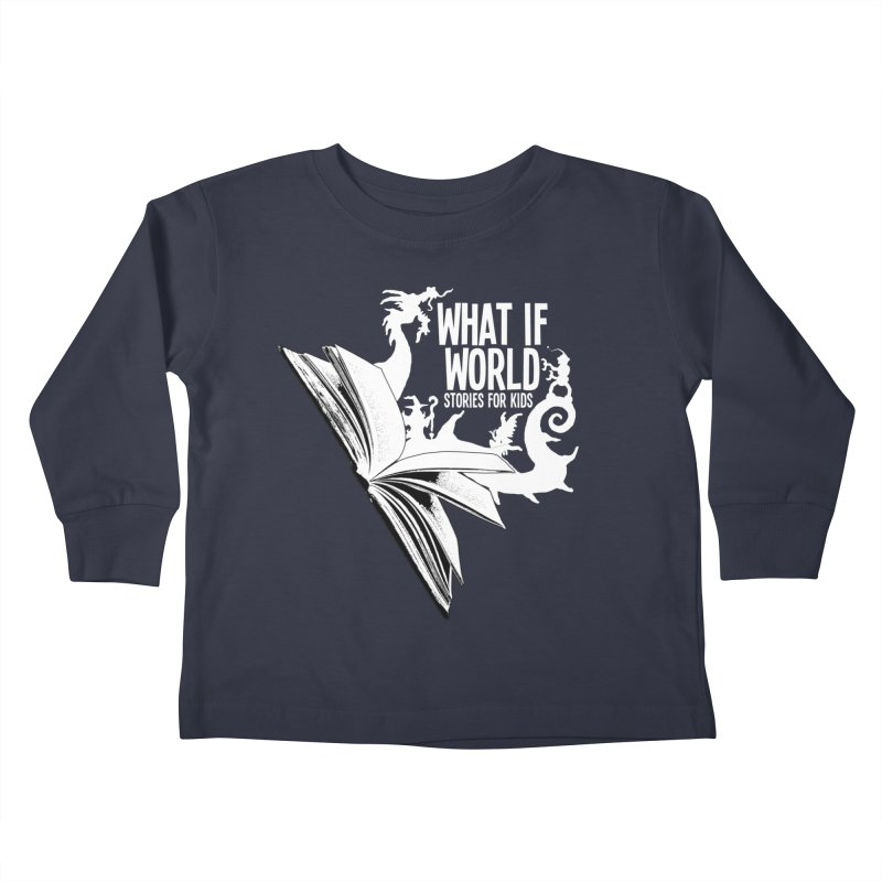 Book Logo - White Kids Toddler Longsleeve T-Shirt by What If World's Imaginarium