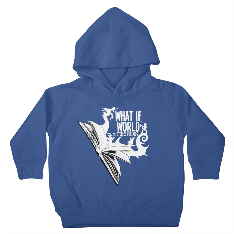 Book Logo - White Kids Toddler Pullover Hoody by What If World's Imaginarium