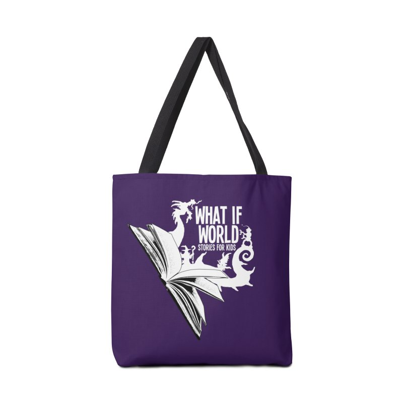 Book Logo - White Accessories Bag by What If World's Imaginarium
