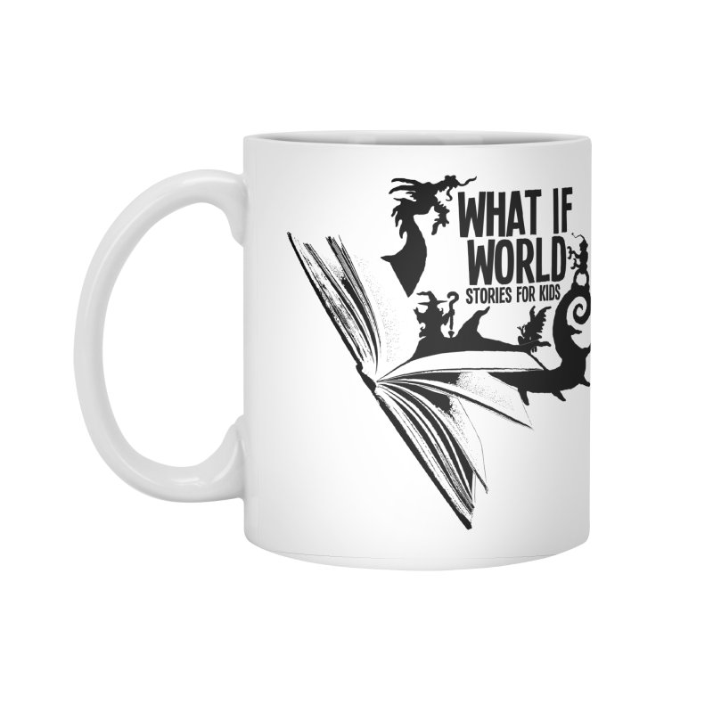 Book Logo - Black Accessories Standard Mug by What If World's Imaginarium