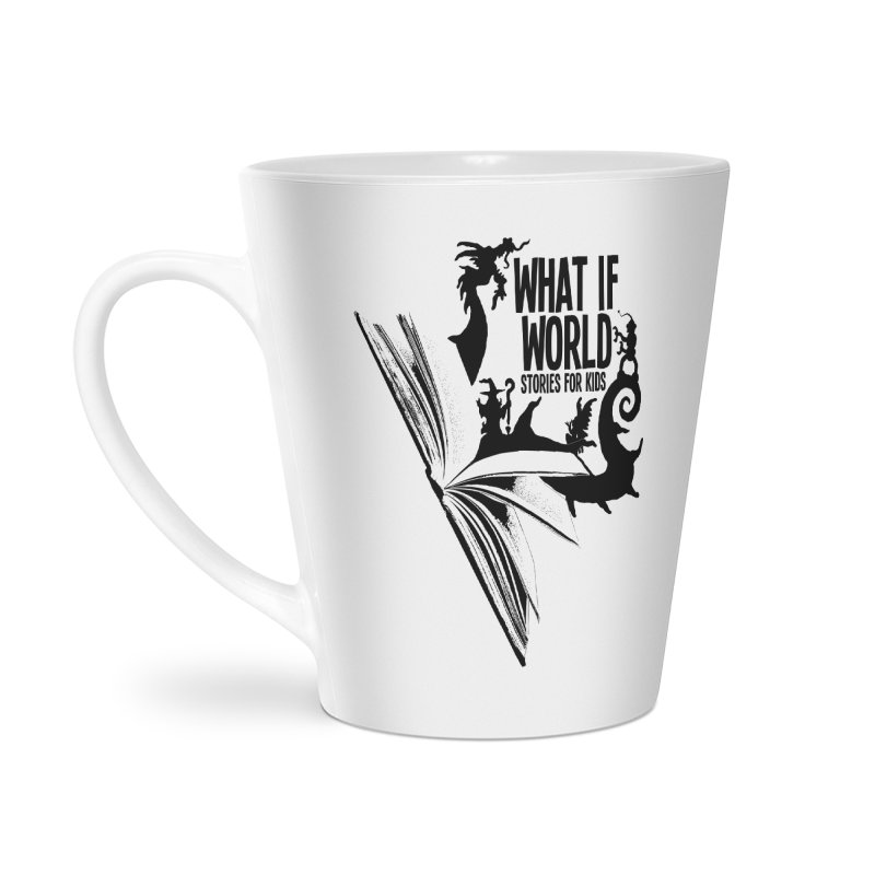 Book Logo - Black Accessories Latte Mug by What If World's Imaginarium