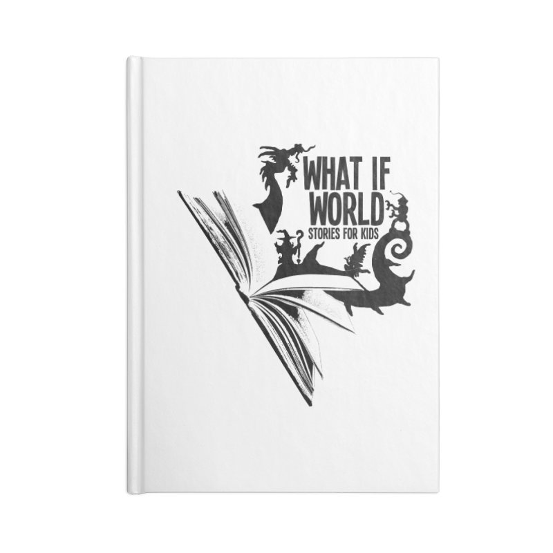 Book Logo - Black Accessories Blank Journal Notebook by What If World's Imaginarium