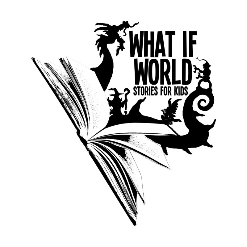 Book Logo - Black Kids T-Shirt by What If World's Imaginarium