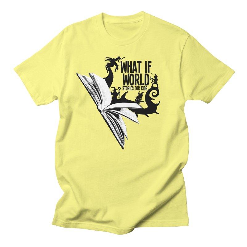 Book Logo - Black Men's Regular T-Shirt by What If World's Imaginarium
