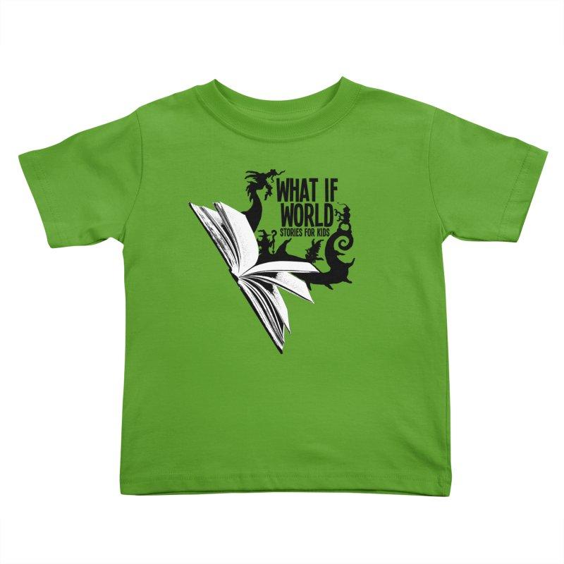 Book Logo - Black Kids Toddler T-Shirt by What If World's Imaginarium