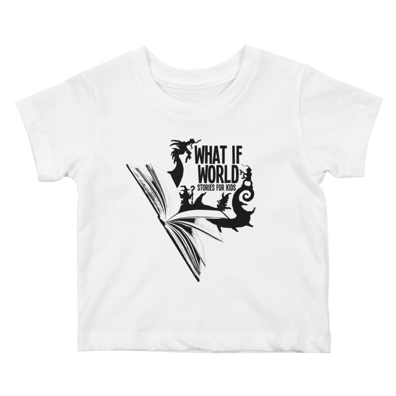Book Logo - Black Kids Baby T-Shirt by What If World's Imaginarium