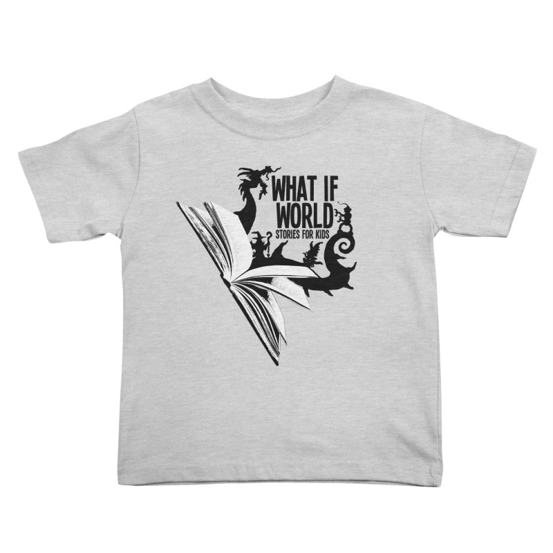 Book Logo - Black Kids Toddler T-Shirt by What If World's Imaginarium