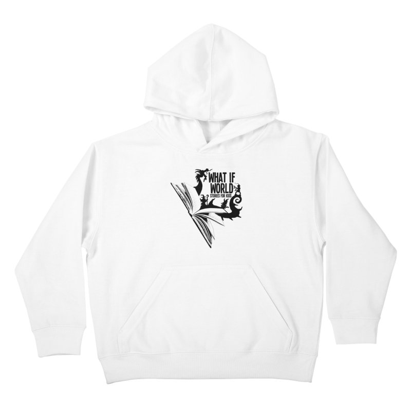 Book Logo - Black Kids Pullover Hoody by What If World's Imaginarium