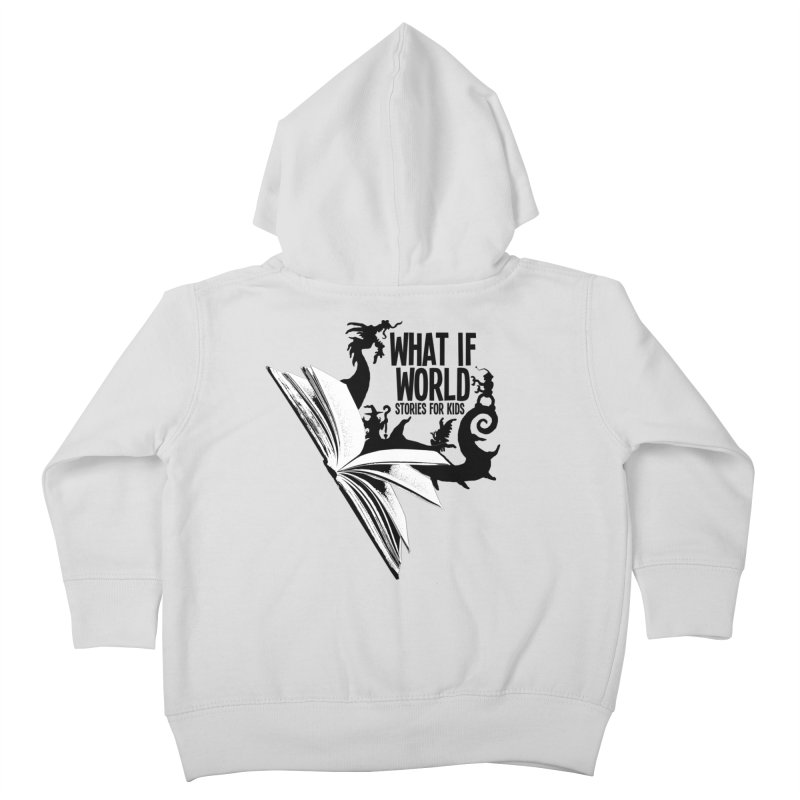 Book Logo - Black Kids Toddler Zip-Up Hoody by What If World's Imaginarium