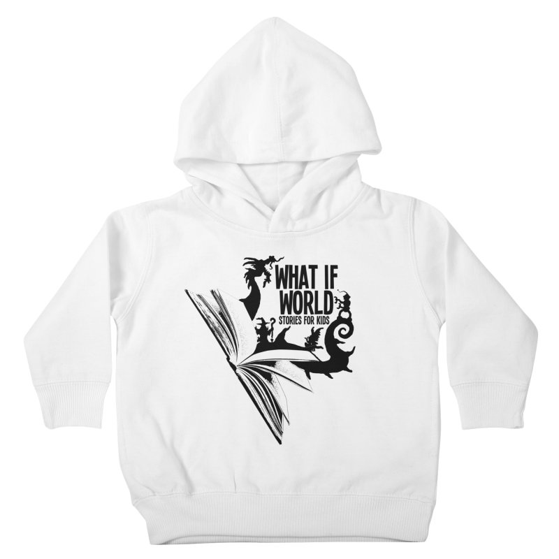 Book Logo - Black Kids Toddler Pullover Hoody by What If World's Imaginarium