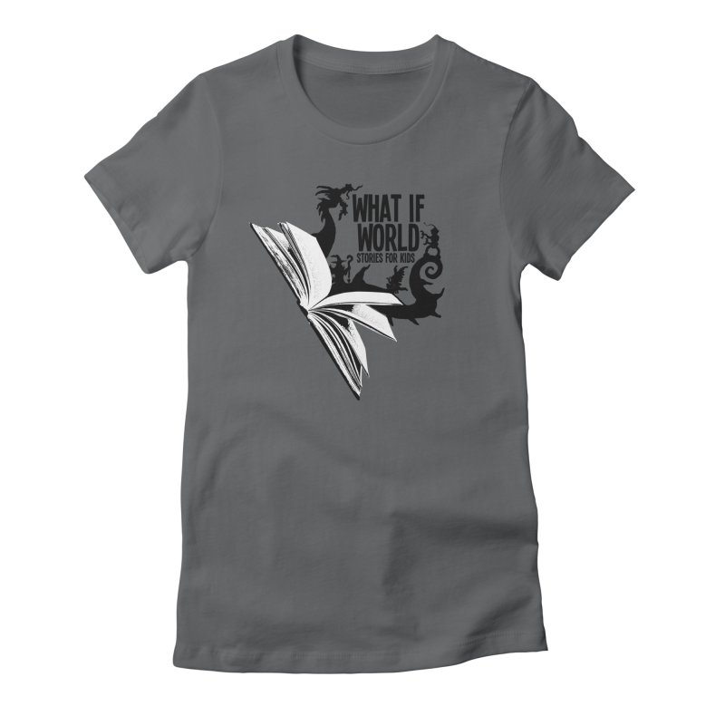 Book Logo - Black Women's Fitted T-Shirt by What If World's Imaginarium