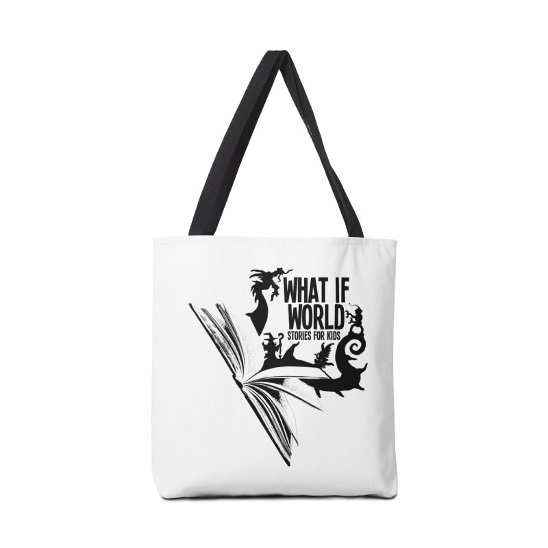 Book Logo - Black Accessories Tote Bag Bag by What If World's Imaginarium
