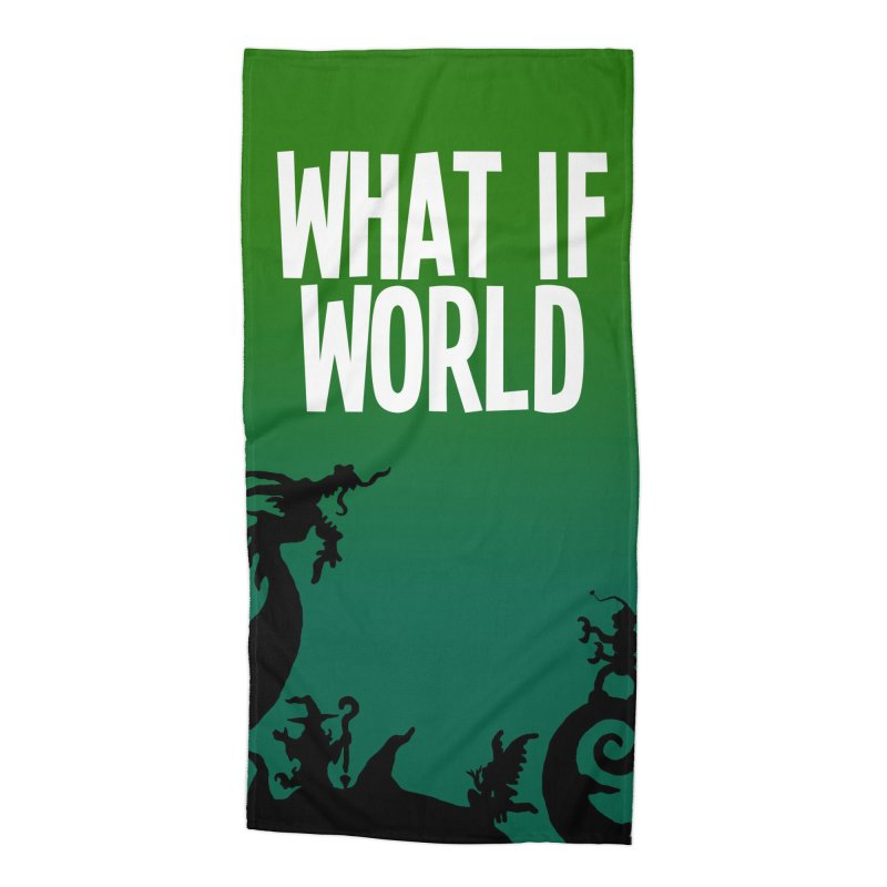 What If World Silhouette Logo Accessories Beach Towel by What If World's Imaginarium
