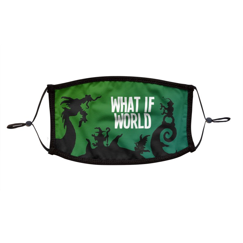 What If World Logo Accessories Face Mask by What If World's Imaginarium