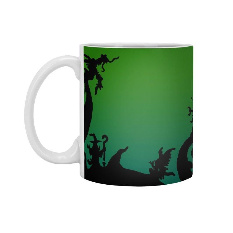What If World Silhouette Logo Accessories Standard Mug by What If World's Imaginarium