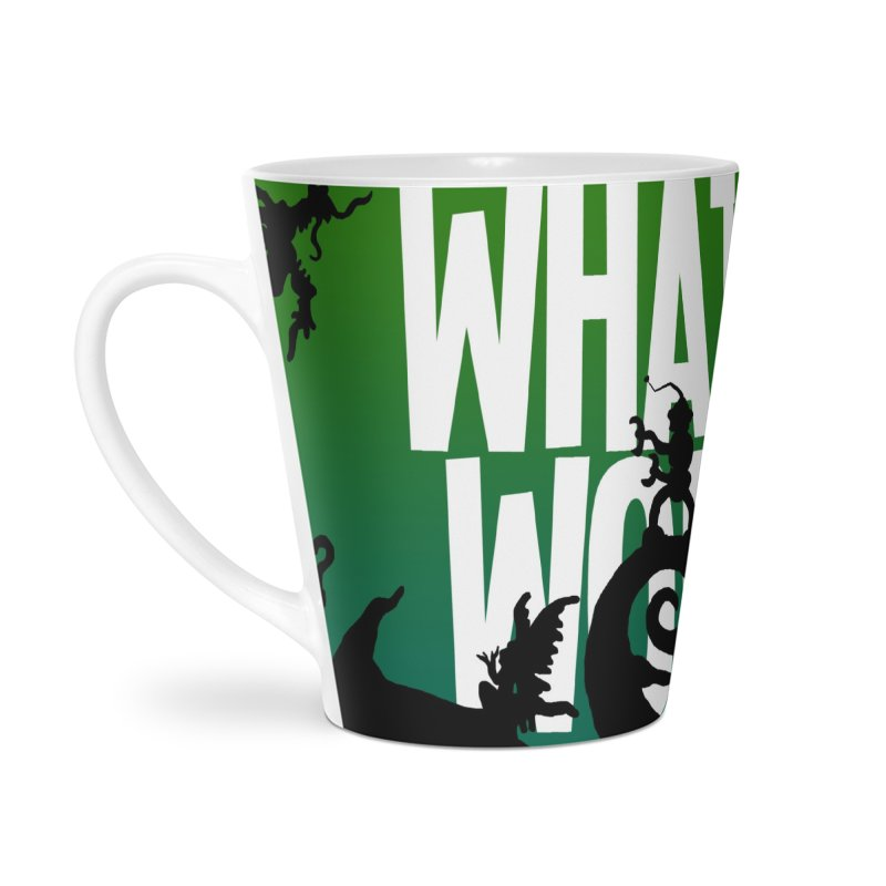 What If World Silhouette Logo in Latte Mug by What If World's Imaginarium