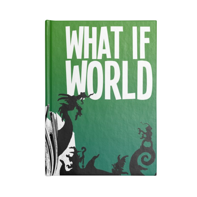 What If World Silhouette Logo Accessories Blank Journal Notebook by What If World's Imaginarium