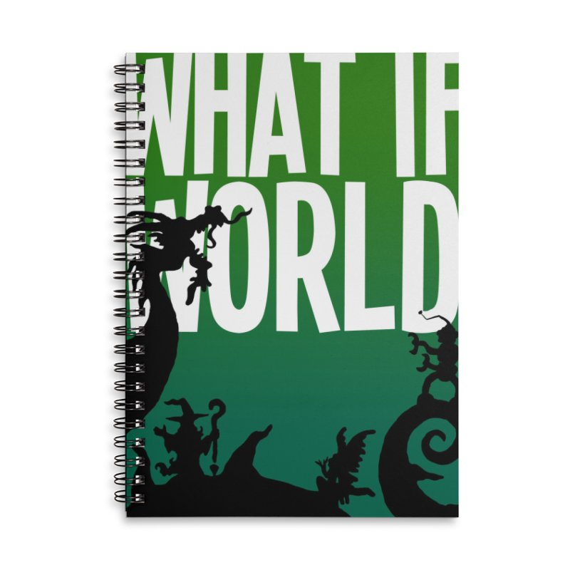 What If World Silhouette Logo Accessories Lined Spiral Notebook by What If World's Imaginarium