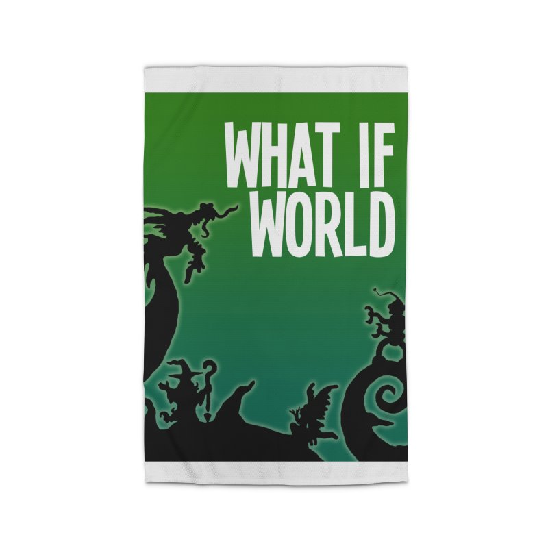 What If World Silhouette Logo Home Rug by What If World's Imaginarium