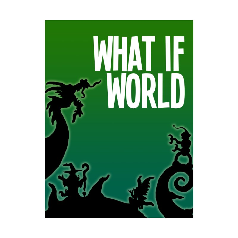 What If World Silhouette Logo Home Shower Curtain by What If World's Imaginarium